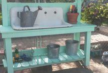 Bahçe tezgahı
