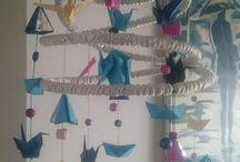 Mobile bébé / Mobile en origami pour ma nièce...