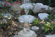glasspynt til hagen / kreativitet med resirkulert glass