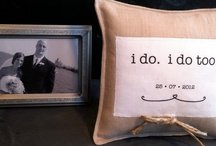 ring pillows ideas / by Carrie Sapa