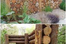 Забор дерево