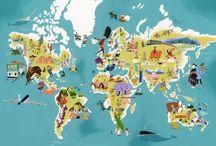 Map! Een wereldkaart / De wereld(kaart) anders bekeken
