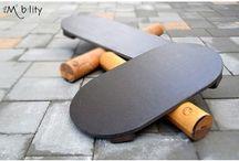 Produse naturale din lemn / Suporturi de telefoane si/sau tablete Placi de echilibru multidirectionale