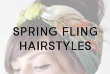 Spring Fling Hairstyles / Styles and strands to get you in the mood for spring!
