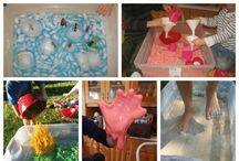 Sensory Play / sensory play, play dough, sand and water play