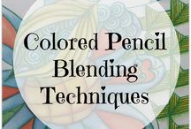 Color pencil blending techniques