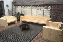 Steigerhout / Meubels gemaakt van nieuw steigerhout by lilian@home