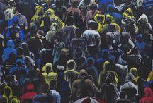 Between figurative and abstract painting / Agata Trafalska painting