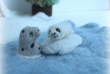 Needle felting by Penguin and owl acres