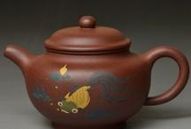 chinese yixing purple grit teapot