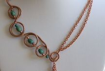 Forged, Wire wrap, Chain Necklaces