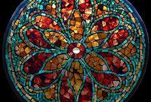 Mosaiquismo, vidrio y similares