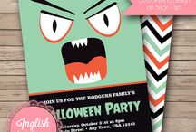 Halloween Invitations / Halloween party invitations from my Etsy shop, Inglish Digi Design:  http://www.etsy.com/shop/inglishdigidesign