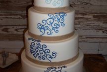 Wedding Cakes (ombre cakes) / Various designs done in multiple colors starting from light to dark like a gradient