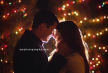 Christmas, engagement, city, light