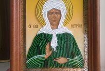 icon of beads, иконы из бисера