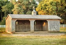 run-in equine sheds