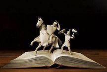 Book sculpture and arts