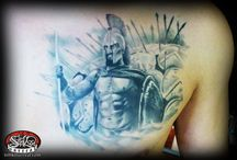 my tattoo artworks / colors and black and gray