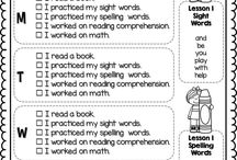 Homework Ideas / Trying to look for homework options that's less time consuming and more choice for the kids, allows for differentiation, focuses on getting them to read at home, practices sight words and our phonics patterns, and uses less paper. Any thing else? Lol