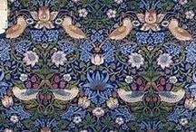 William Morris Textile Designs / Pre-Raphaelite Era Victorian Designs