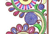 Орнаменты 2 / Эскизы , узоры для вышивки