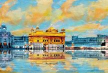 Golden Temple Oil Paintings