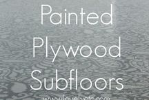 Painted Plywood Subfloors