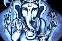 Ganesha / Ganesh is a Hindu god but belongs to us all. He is the remover of obstacles. Please feel free to pin all you want / by Ann Ketter