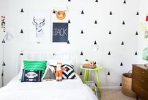 Bold and graphic kids room