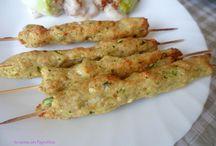 arrosticini di pollo e zucchini