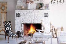 Fireplace Камины / Фотографии каминов из камня