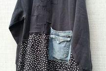 přešívané oděvy