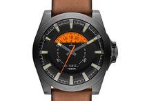 Diesel Arges orologi / Diesel analogico al quarzo cuoio fascia orologi in acciaio inox design semplice