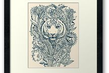 Tiger Tangle Floral Art