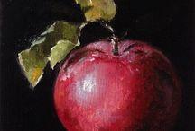 Frutos na pintura