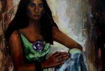 painter.    Κωνσταντία Παντελή  (Τζινα) / painting