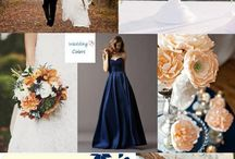 Fall Wedding Navy and Peach / by Jenna Judd