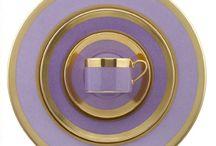 China etc || Lavender, Violet, Lilac, Amethyst, Aubergine & Purple / Lavender, Violet, Lilac, Amethyst & Purple china & complimentary stemware, serviceware, flatware... / by Eugenia LaVonne Jackson