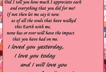 Mama, my deepest love!
