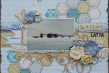 Hexagon scrapbook layouts