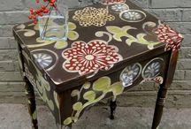 Målade möbler