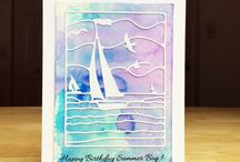 Watercolor Birthday card inspiration