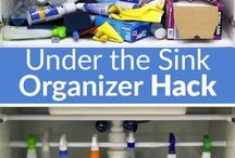 Under the Kitchen Sink Organization / 100's of tips to organize the space under your kitchen sink.