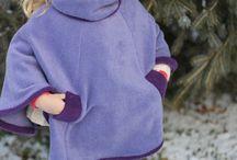 ponchos de polar para niños
