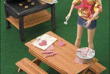 Barbie furniture kitchen, patio / by Marlene McKinney