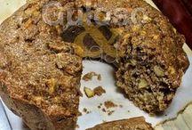 bolo de maçã e linhaça