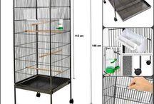 Tall bird cage