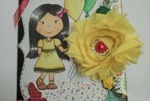 Paper Nest Doll Rubber Cling Stamps & La La Land Craft stamps