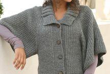 Knitting - Phoncos, shawls and scarfs